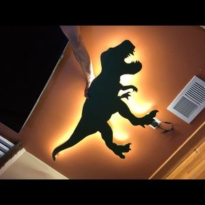 Other - Dinosaur themed wall art with LED dimming lights.